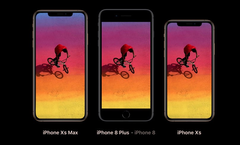 iPhone XS modellen versus iPhone 8 Plus